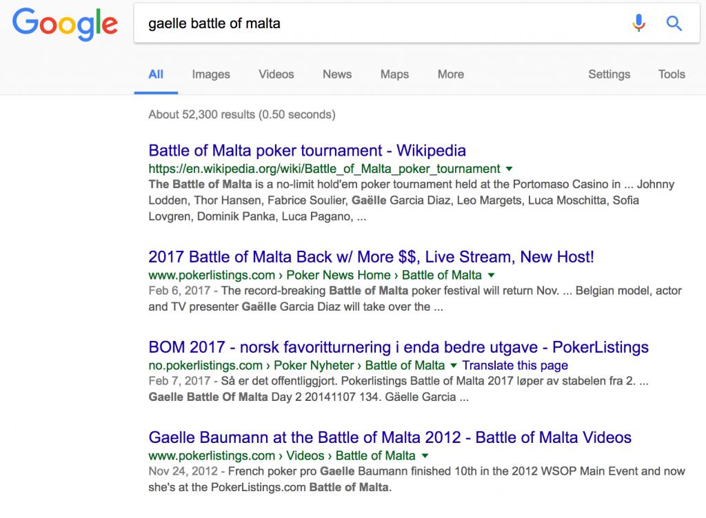 Gaelle Battle of Malta google search All-in Global