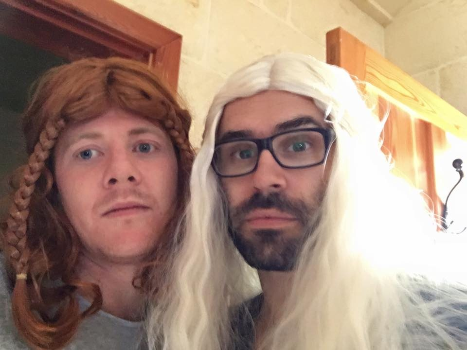 Roy and Tiago in costumes