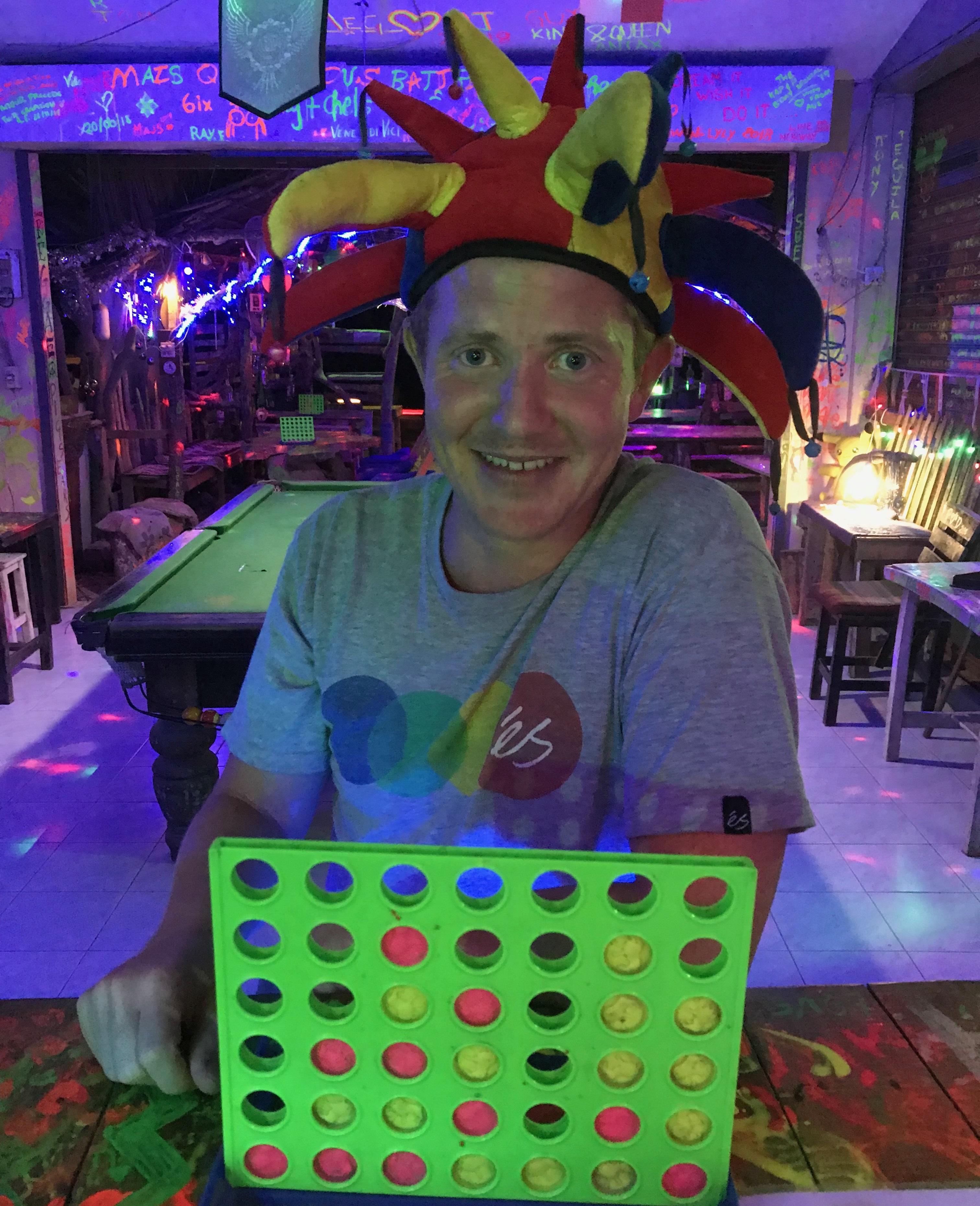 Roy at the mushroom bar