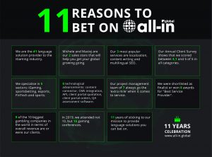 11 reasons to bet on All-in Global