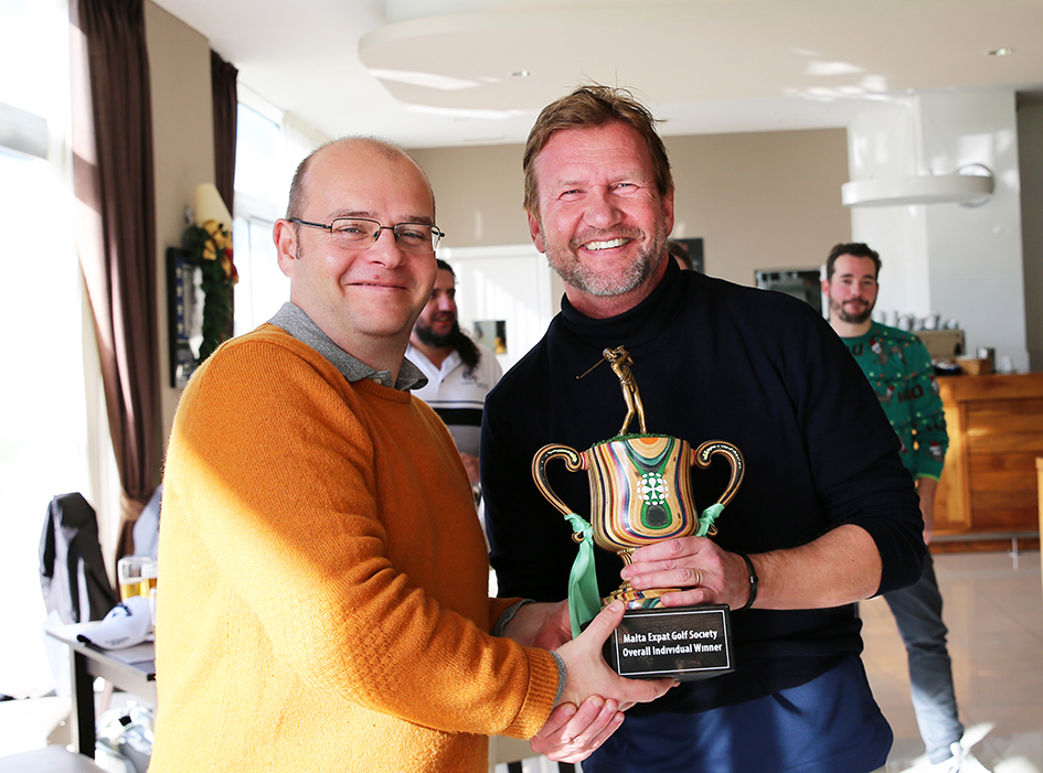 Expats Malta Golf Tournament 2019 Winner Peter Zall