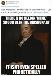 Noah Webster meme