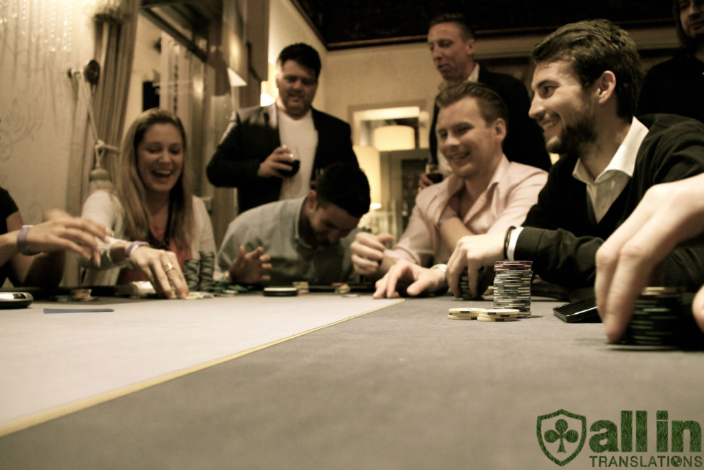 Poker table game