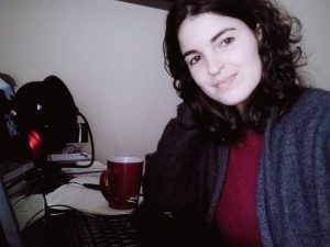 Marina Ribeiro, All-in Global marketing executive, working from home due to coronavirus
