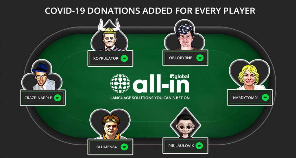 All-IN GLOBAL'S AVATAR CARNIVAL NETWORKING POKER FREEROLL TABLE WITH PARTICIPANTS AVATAR