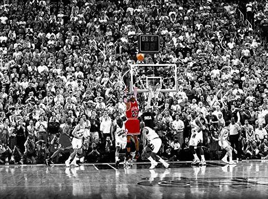 Michael Jordan final shot at the 98 finals against Utah Jazz