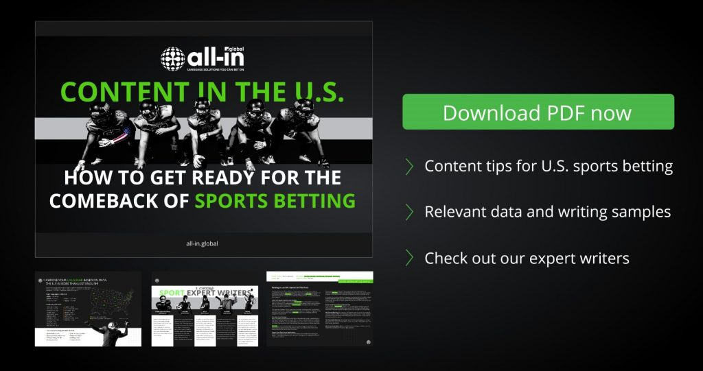 Content in the U.S. - Tips by All-in Global