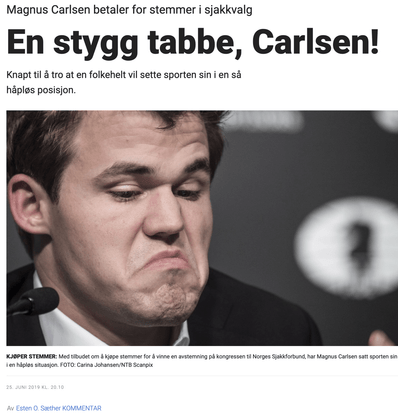 Magnus Carlson press conference for the chess tournament news article snippet