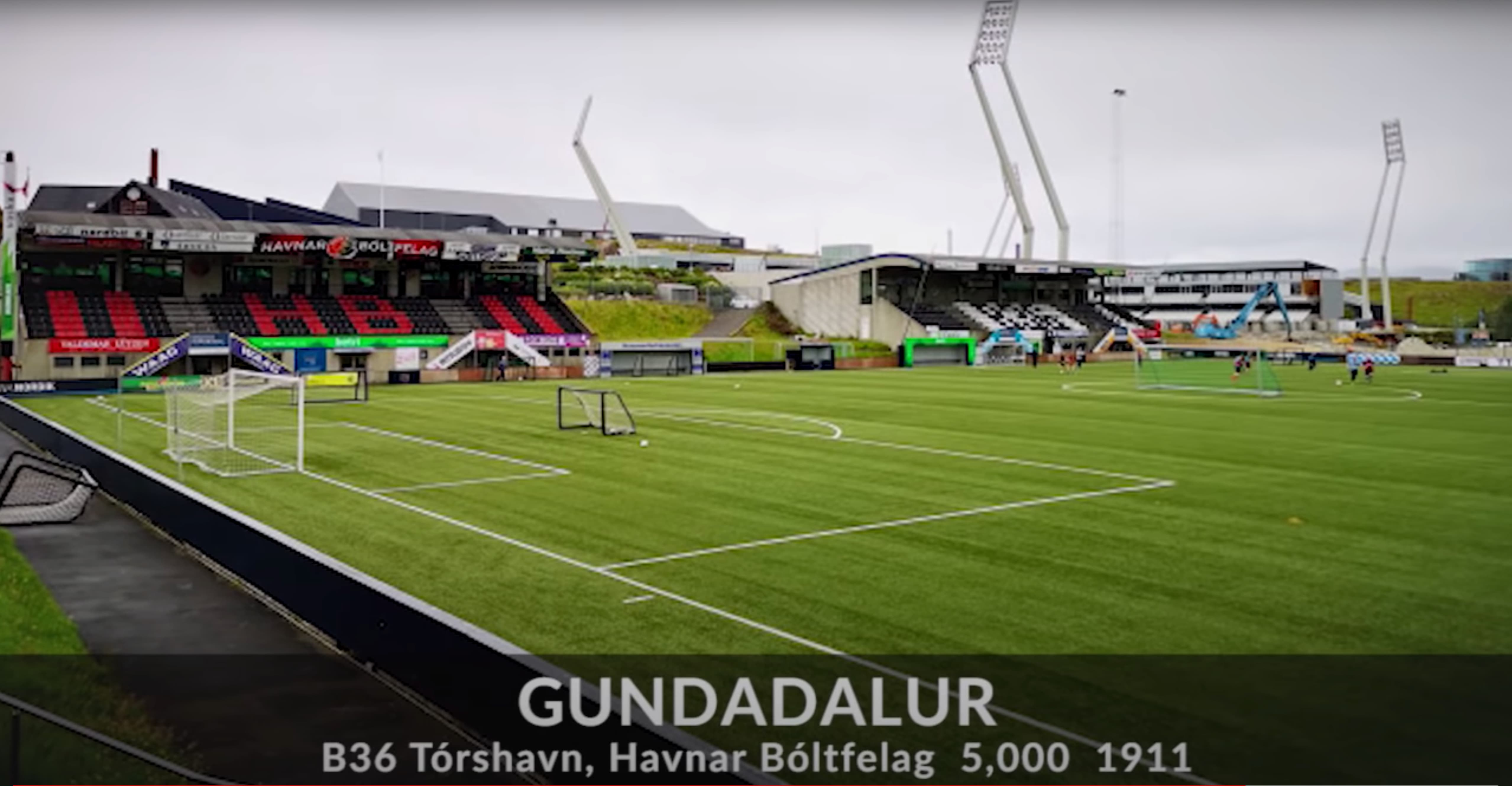 Havnar Bóltfelag (HB Torshavn) stadium from the Faroe Islands Premier League