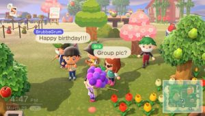 Animal Crossing - people socializing in video games