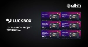 LUCKBOX.com localisation project testimonial