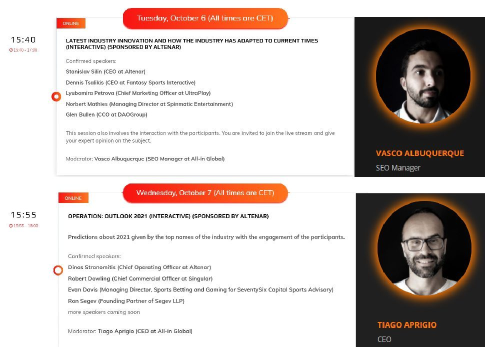 European gaming congress panels moderated by Vasco and Tiago from All-in Global-02-01