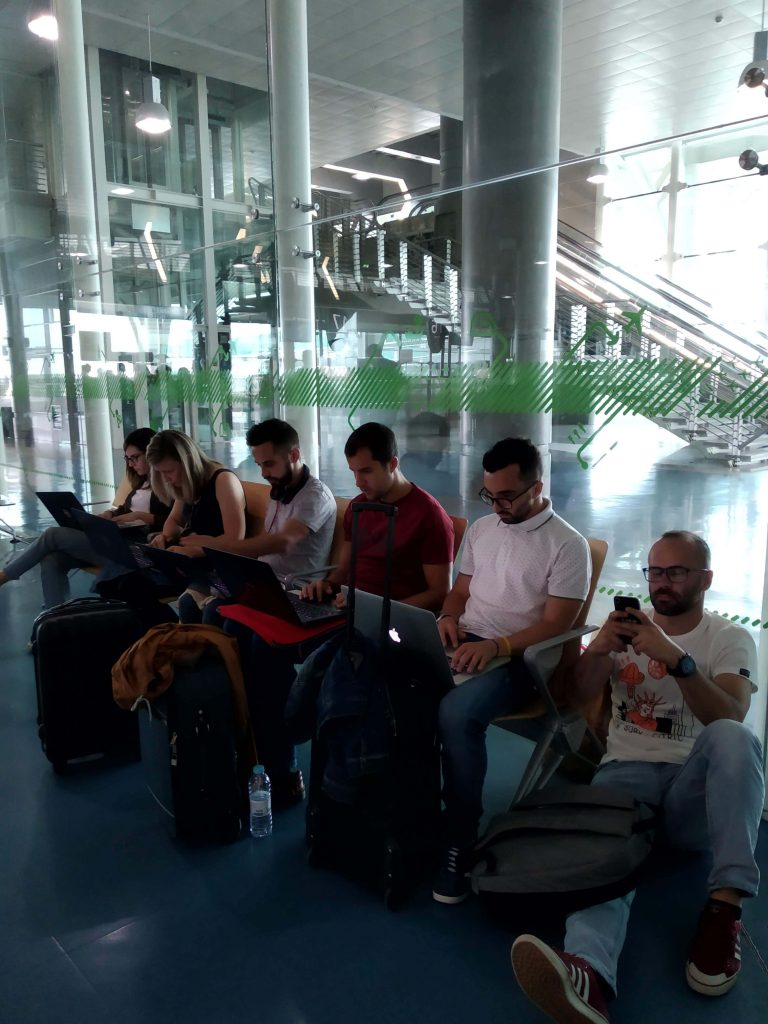 All-in Global working at the airport