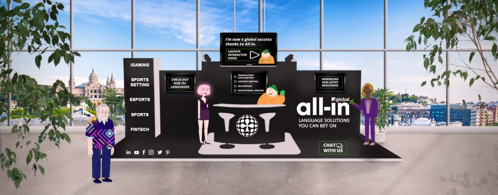 All-in Global virtual booth at BOSE Digital
