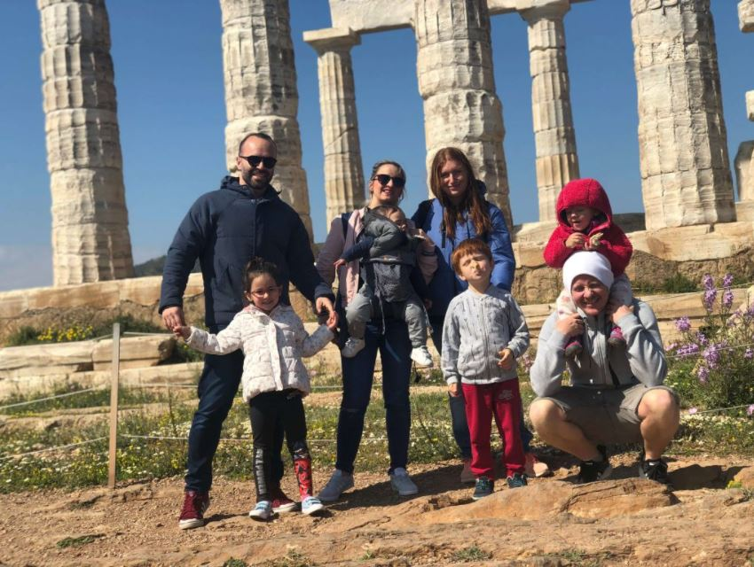 19: Sounion (my family together with the All-in Global CEO Tiago Aprigio and his family).