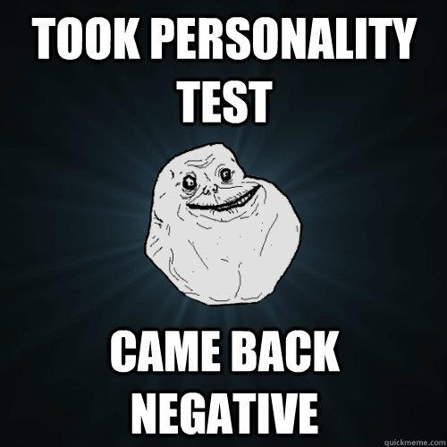 personality test negative meme