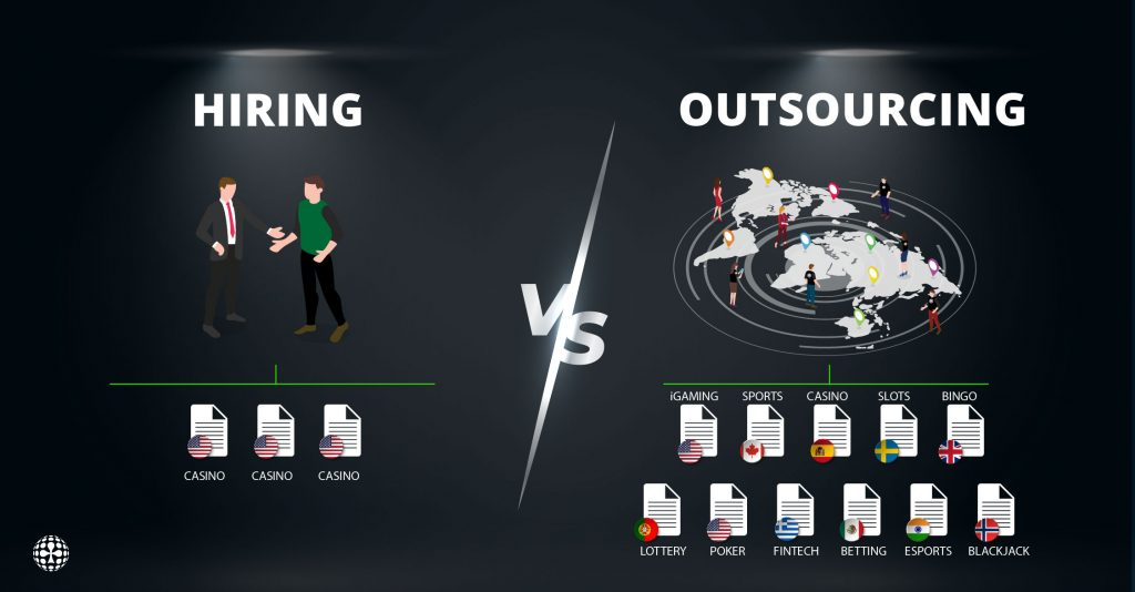 outsourcing content versus hiring an in-house writer