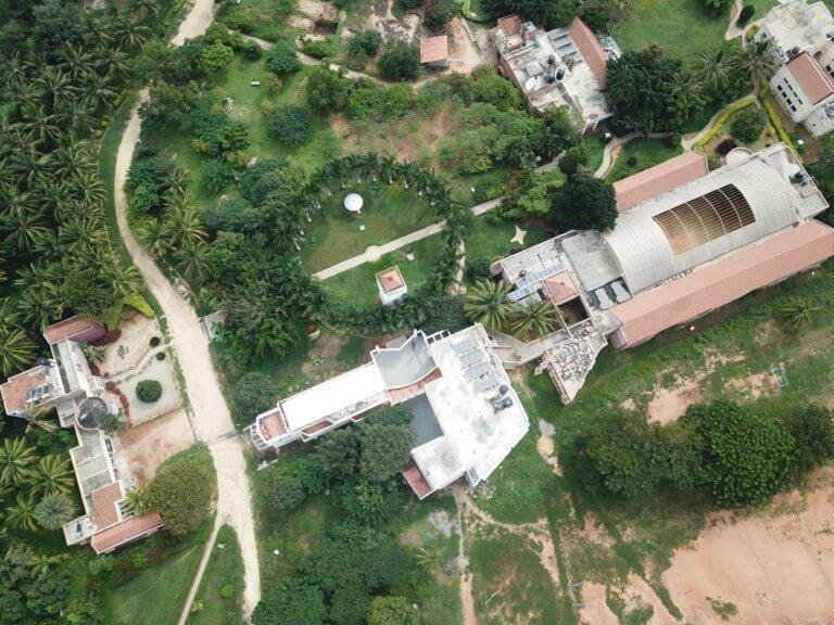 Aerial View of Shanti Bhavan school.